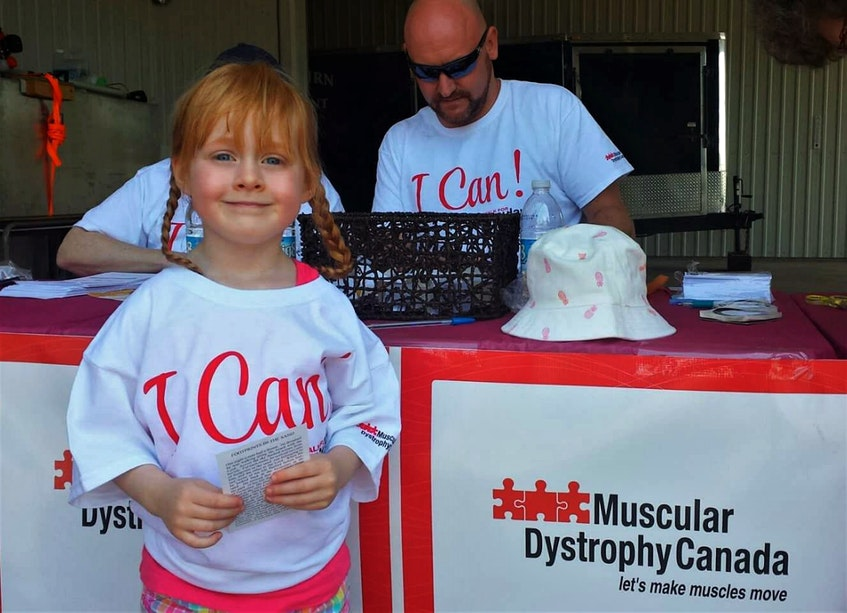 Lily MacDonald is pictured at the 2016 Walk for Muscular Dystrophy in Pictou County. - Contributed