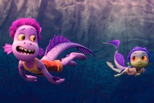 A scene from the Pixar film Luca. Courtesy, Walt Disney Studios Motion Pictures.