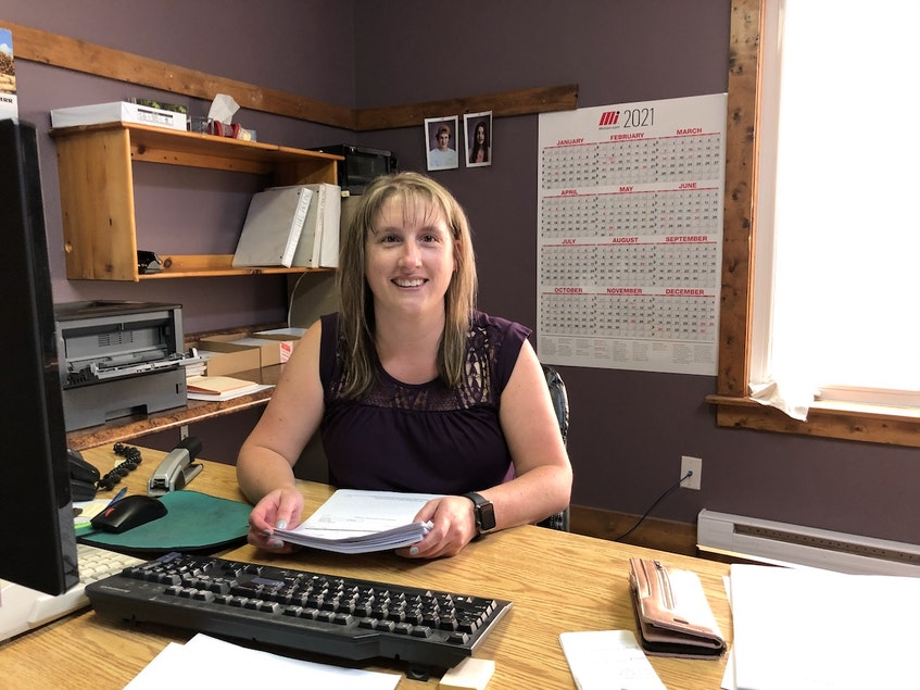 """Since Sue Anne Rideout handles payroll at Sexton's Lumber, she was one of the first to learn about the bonus cheques that the Sextons would be handing out. She says she was """"dumbfounded"""" by their decision. And it made for a very busy day for her last Thursday preparing more than 100 bonus cheques."""