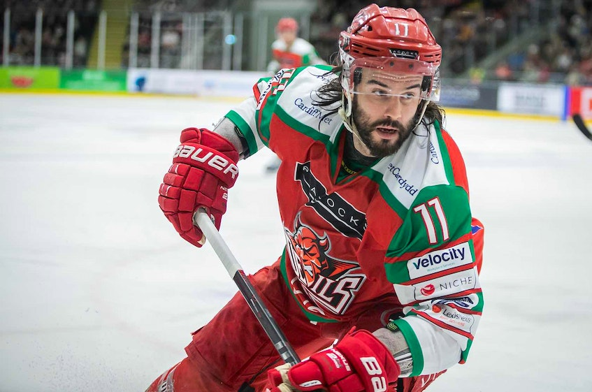 Former Cape Breton Eagle forward Stephen Dixon will return to the ice next season with the Cardiff Devils of the Elite Ice Hockey League. CONTRIBUTED