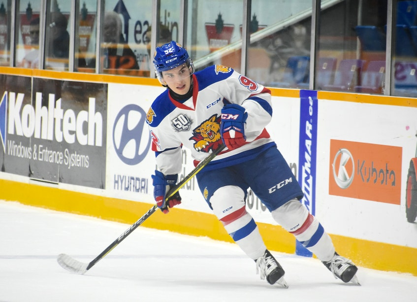 Former Cape Breton West Islander Jacob Hudson was the co-winner of the Moncton Wildcats' MVP award was also the winner of the club's fan choice award. JEREMY FRASER • CAPE BRETON POST
