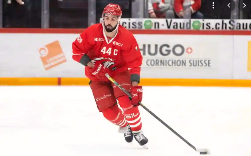 Former Cape Breton Eagle defenceman Mark Barberio had shoulder surgery last month and is expected to be ready for Lausanne HC's training camp in September. CONTRIBUTED
