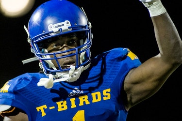 Trivel Pinto, then a receiver with the UBC Thunderbirds.