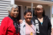 Charlotte Labobe-Morris, left, Marlene Thomas and Margaret Labobe-Provencher all attended the Shubenacadie residential school in the 1960s.