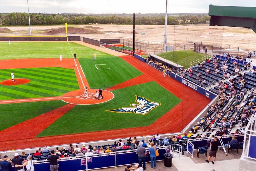 Sylvan Lake Gulls Stadium.