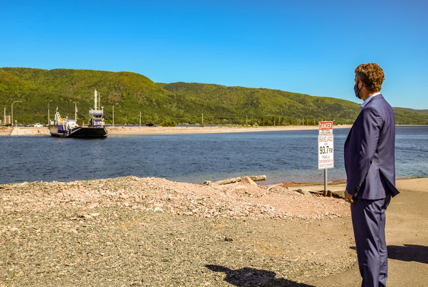 Premier Iain Rankin, seen here at the Englishtown Ferry terminal in Cape Breton, announced Saturday morning that the Nova Scotia government is permanently removing fees from all intra-provincial ferries. JESSICA SMITH/CAPE BRETON POST