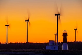 Barry Burgess's photos are always golden. What a dramatic background for the lovely Pubnico lighthouse and wind farm. Did you know there are now more than 300 commercial wind turbines generating electricity in Nova Scotia?