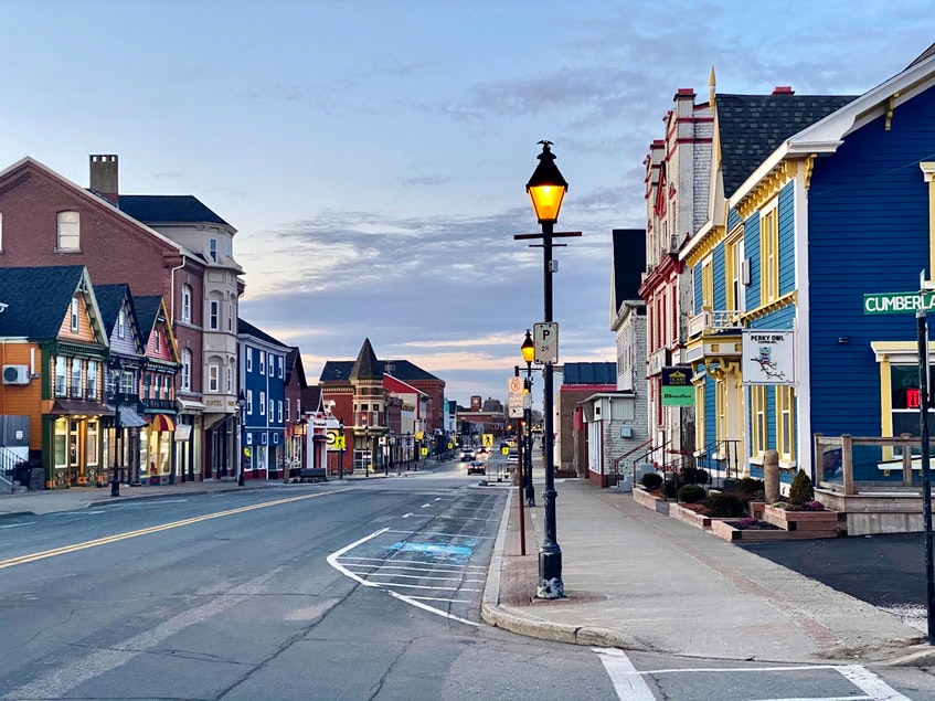 """Downtown Yarmouth. The executive director of the Yarmouth and Acadian Shores Tourism Association says the tourism industry is """"has been the hardest hit and is the longest to recover"""" after the pandemic. - Tina Comeau"""