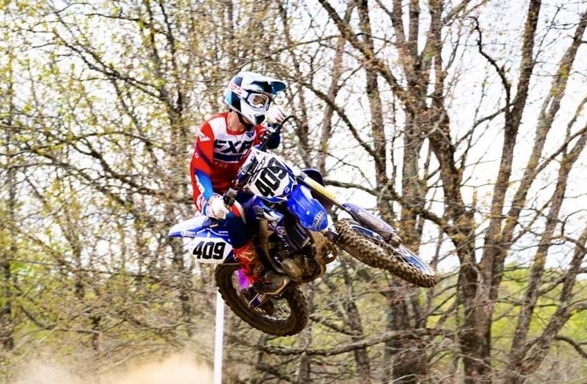 Fifteen-year-old motocross rider Brennan Schofield of Falmouth. - FCA Motocross