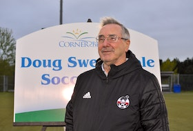 Doug Sweetapple has spent a lot of time on Corner Brook's soccer fields, so it's only fitting that one of them now bears his name. The Doug Sweetapple Soccer Field is on Wellington Street.