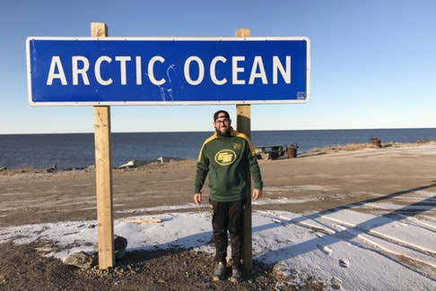 Edmonton long-snapper Ryan King, who hails from Sherwood Park, was part of a crew made up of players and club staff who made a Northwest Territories excursion through Tuktoyaktuk and Inuvik in October, 2019. The trip included stops at schools to talk about football and deliver the Telus-wise cyber bullying presentations.