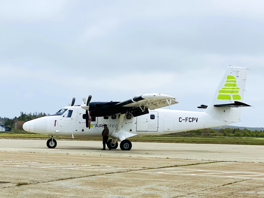 A twin otter chartered through a provincial airline by DFO made frequent flights this spring from Yarmouth airport. It carried a crew of scientists monitoring North Atlantic Right Whale activity.  CARLA ALLEN • TRICOUNTY VANGUARD - Carla Allen
