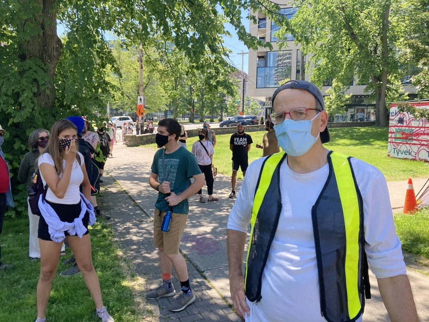 Dr. Greg Hirsch also showed up to Sunday's rally in Halifax. He said the health and social cost of not dealing with homelessness will outweigh investing in safe and secure affordable housing. - Andrew Rankin