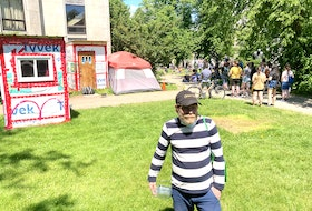 """For more than a year, Liam Donnelly has lived in one of 13 built """"crisis-shelters"""" scattered throughout Halifax. Halifax Regional Municipality plans to remove all of them."""