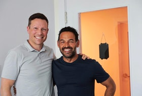June 9, 2021--Photo of entrepreneur Ron Lovett, and his friend and business partner Shaun Majumder, for DeMont's column. ERIC WYNNE/Chronicle Herald