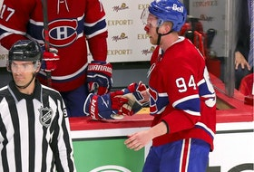 The Canadiens' Corey Perry took an obvious high stick to the face in overtime of Game 3 and had blood all over his face and there was no call by the referees or linesmen.