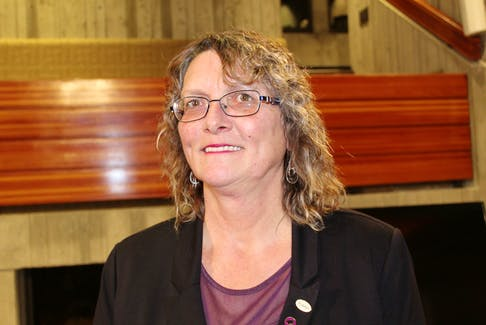Ward 1 St. John's city councillor Deanne Stapleton said she's thrilled to finally see a new basketball court in the Airport Height neighbourhood come to tuition after months of discussions with anxious residents wanting a new court for older children.