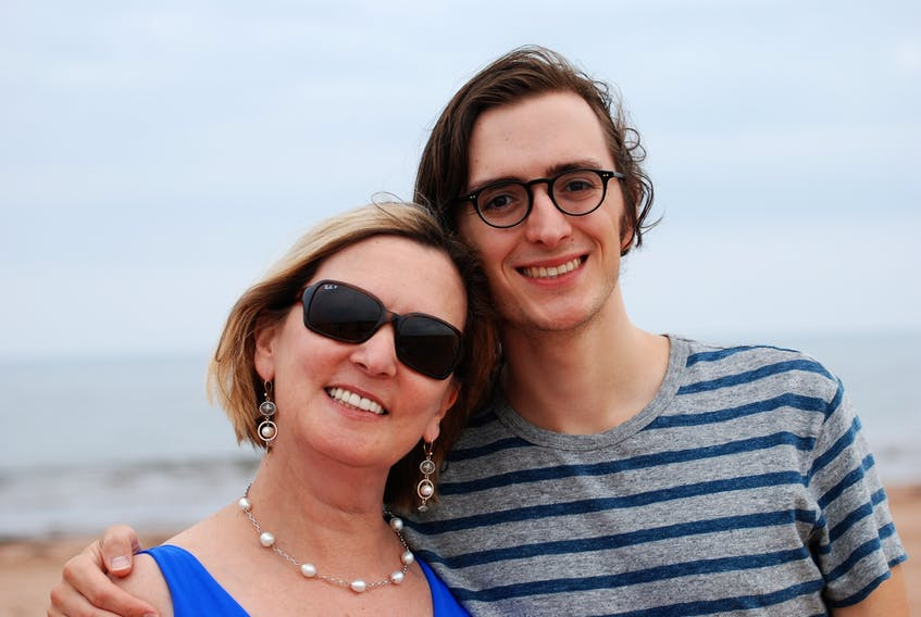 Matt Steele, a Halifax-based musician, is pictured with his late mother Anne Steele, who passed away from brain cancer.