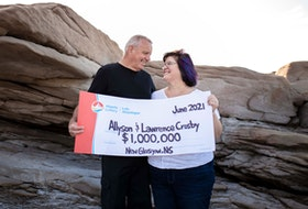 Allyson and Lawrence Crosby won a million dollars from the Atlantic Lottery.