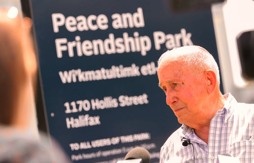 Daniel Paul, a Mi'kmaw elder and historian, is seen after the renaming ceremony at the Peace and Friendship Park in Halifax in June.  Paul says he doesn't think any of the treaties the British made with the Mi'kmaw were signed in good faith. - Tim Krochak / File