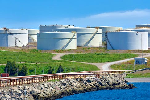 Storage tanks at the Come By Chance oil refinery. Telegram file photo