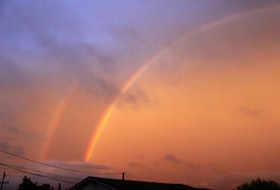 The Phillips family of Colliers, Conception Bay, N.L. sent this awe-inspiring photo of a double rainbow taken on Father's Day. It is often said rainbows hold a spiritual message. It's considered a good omen if you see a double rainbow. Did you know in eastern cultures a single rainbow signifies a human descending from heaven to Earth and a double rainbow is a symbol of transformation and a sign of good fortune?