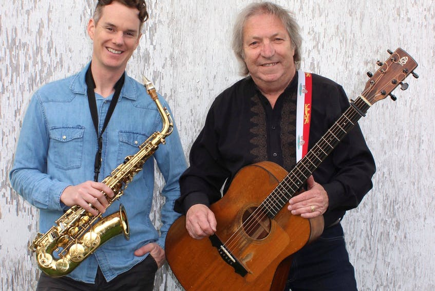 Todd MacLean, left, and Gordon Belsher bring their Saxafras Ceilidh to the stage of the Sterling Women's Institute Hall this summer, beginning June 22.