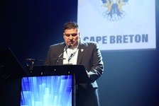 In this file 2018 photo, now Cape Breton Eagles general manager Jacques Carrière makes the team's first-round selection at the Quebec Major Junior Hockey League Entry Draft. Cape Breton currently holds the second overall pick in the 2021 draft and Carrière says his phone has been ringing with teams interested in acquiring the pick. CONTRIBUTED