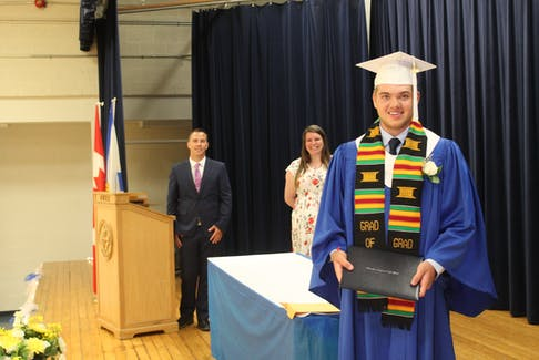 In order to respect social distancing and gathering restrictions, schools across Chignecto Central Regional Centre for Education (CCRCE) will once again be hosting individual graduation ceremonies throughout the week of June 21. Pictured here is 2020 Parrsboro Regional High graduate Jackson Harrison. - Photo Contributed.