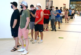 There was plenty of interest to eat at this province's first Five Guys Burgers and Fries restaurant, which had its grand opening at the Avalon Mall in St. John's Tuesday. A lineup was formed in the hallway to get in the story, while there was another inside waiting for food after placing their order.