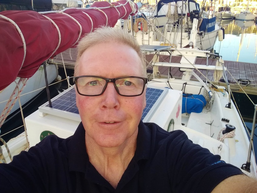 """Summerside sailor Alan Mulholland, who attempted an around the world solo sail, urges graduates to """"live in the moment and, when you run up against challenges and setbacks, embrace them, for they are some of the truest learning moments you will ever come across."""