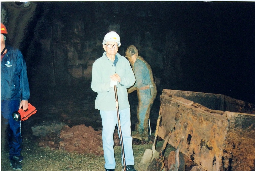 Ernest Ohle on the Bell Island mine tour in 2003. - Contributed