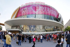 Fans arrive at Game 2 of the Stanley Cup Semifinals during the 2021 Stanley Cup Playoffs at T-Mobile Arena between the Montreal Canadiens and the Vegas Golden Knights on June 16, 2021 in Las Vegas, Nevada.