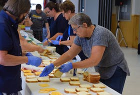 Volunteers at the Salvation Army in Truro are busy preparing sandwiches and food for those going hungry near the New Brunswick-Nova Scotia land border on Hwy 104. It has closed due to a protest over COVID restrictions announced yesterday on travellers from New Brunswick.