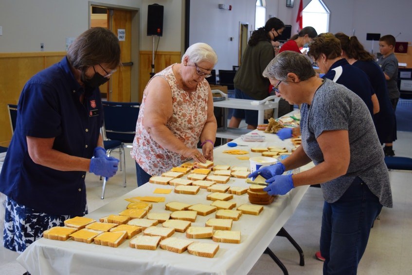 The Truro Corps is preparing 500 sandwiches and the Springhill Corps is preparing 250. - Chelsey Gould