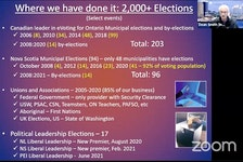 Dean Smith, with InteliVote Systems Inc., explained to West Hants' regional council why allowing electronic voting is a safe and effective option for their upcoming special by-election.