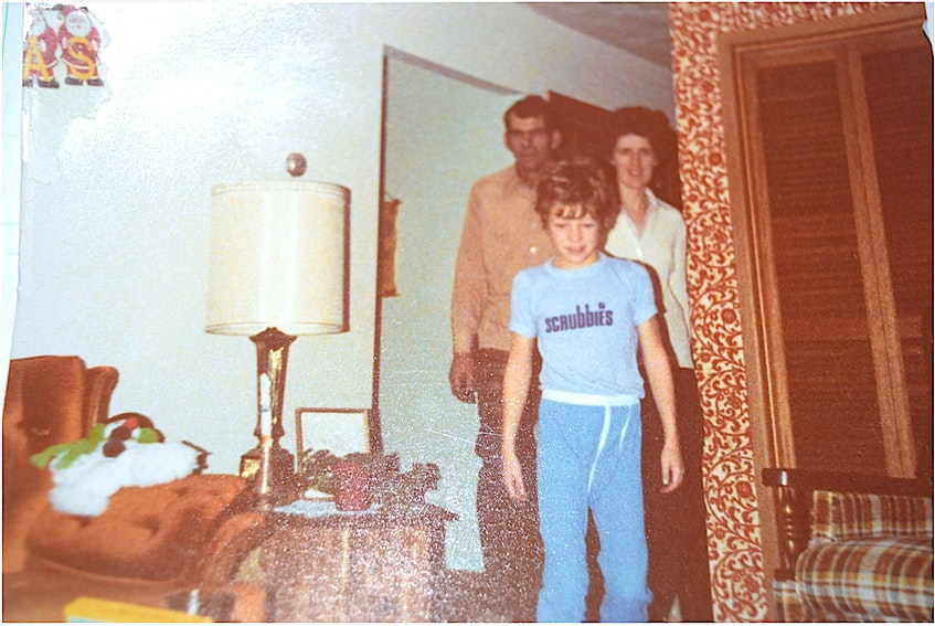 Paul Brown, at age 9, with his parents Pauline and Brud Brown, in their home in New Victoria on Christmas morning in 1979. Paul said he helped his father build the house when he was six years old and memories of a great childhood has had him fighting to preserve it ever since. CONTRIBUTED - Sharon Montgomery