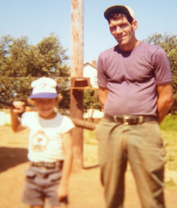 Paul Brown, at age 8, is shown with his father Brud Brown at the family home in New Victoria in 1978. CONTRIBUTED - Contributed