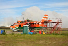 Officials in Labrador West are concerned the water bomber that was moved from Wabush airport in 2015 has not been returned to the region.