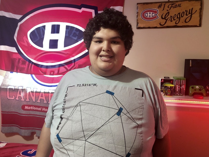 Gregory Francis, 17, stands in his room in his Membertou home which he shares with his family. A dedicated Montreal Canadiens fan, Francis plans to open an eatery in the future called Habs Fan Restaurant. NICOLE SULLIVAN/CAPE BRETON POST - Nicole Sullivan