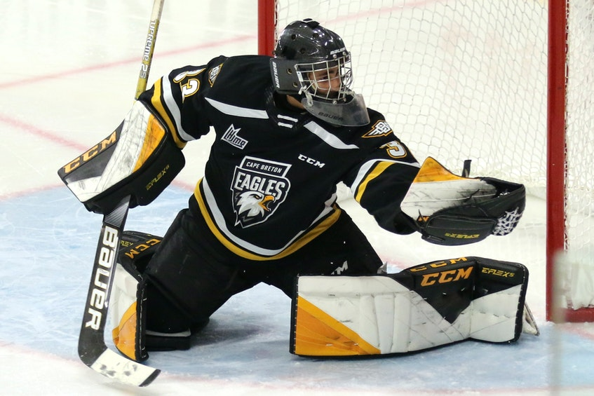 Nicolas Ruccia was the Cape Breton Eagles first-round pick, No. 17 overall, at the 2020 Quebec Major Junior Hockey League Entry Draft. He earned a spot on the club's roster for the 2020-21 season. CONTRIBUTED • MIKE SULLIVAN - Contributed