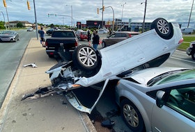 A seven-car collision at the intersection of Portugal Cove Road and Prince Philip Drive sent at least one person to hospital Thursday morning, June 24, in St. John's.