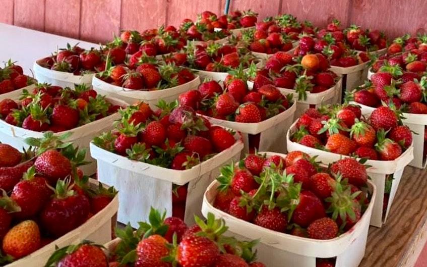 Fresh strawberries from Prime's Marshalltown Market. - Facebook