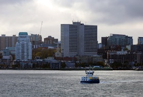 The Woodside ferry approaches the terminal after leaving the downtown Halifax stop.