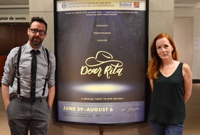 Mike Ross, left, co-created a show about Cape Breton icon Rita MacNeil. Called Dear Rita, it will run on the Mainstage Theatre at Confederation Centre of the Arts in Charlottetown. The show is being directed by Mary Francis Moore, right.