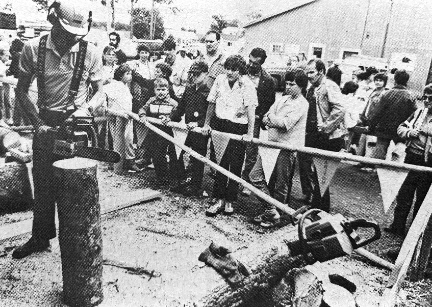Visitors to the Nova Scotia Forestry Exhibition in Windsor were in awe of some of the skills on display in 1986. It was noted that the annual exhibition was a great success. - File Photo