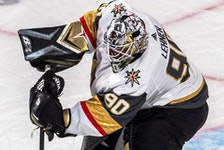 Vegas Golden Knights goaltender Robin Lehner.