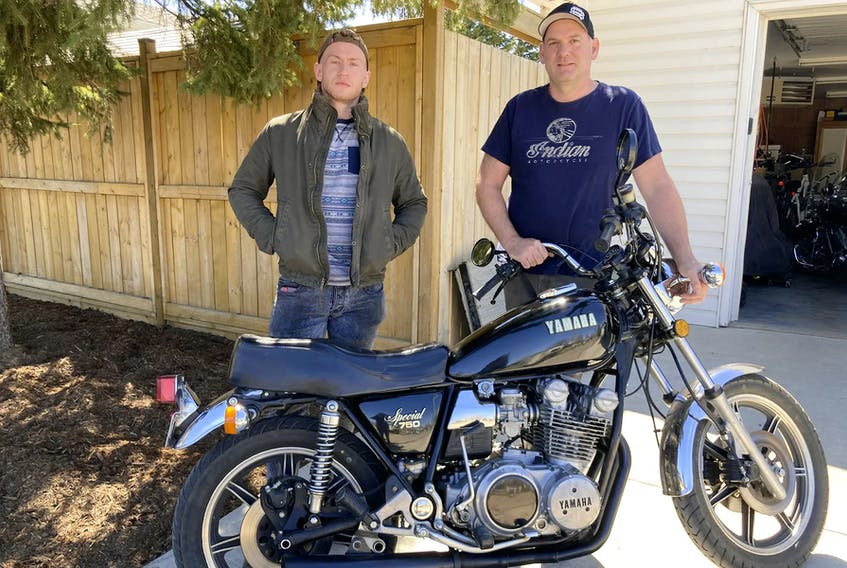 Michael Rogalski gained a love for motorcycles from his father, Nick. Now, Michael has passed that enthusiasm to his own son, Simon, a third-generation Rogalski who has taken up an interest in powered two-wheelers. Simon has been riding a 1974 Honda CB400 Four, and has taken his dad's 'new' 1979 Yamaha XS750 for a few rides. Contributed/Michael Rogalski