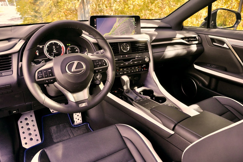 The interior of the 2021 Lexus RX 350 looks positively brilliant in the Black Line trim. Postmedia News - POSTMEDIA