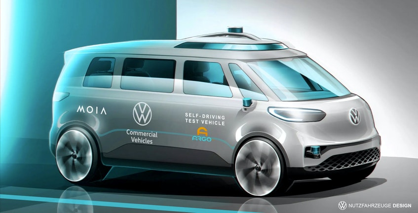 The all-electric ID.BUZZ shall be the first vehicle in the Volkswagen Group to also drive autonomously. Handout image/Volkswagen - POSTMEDIA